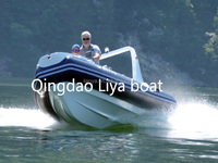 Liya rib boat 520 pvc inflatable boat rib for sale