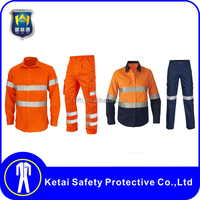 Top brand men safety work clothing, reflective workwear,coveralls uniform design