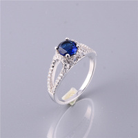 New Arrival 925 Sterling Silver Stone Charm Ring