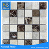 Emperador Dark mosaic tile,dark brown marble floor tile