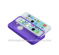for iPhone 5C TPU flip Case with Screen Protector