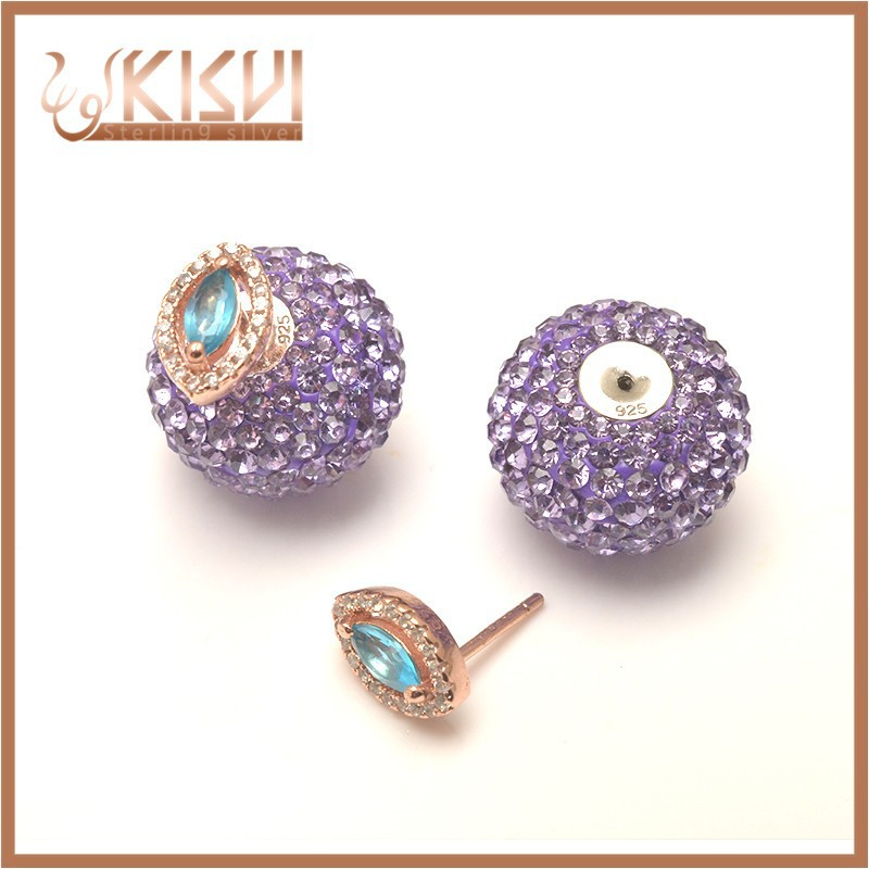 925 silver fashion stud earring chinese jewelry
