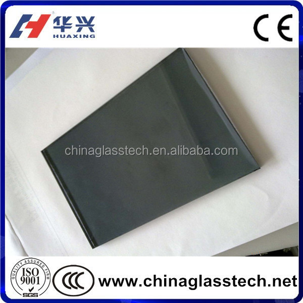 CE Certificate Size Customized Privacy Black Frosted Glass