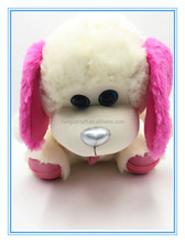 Factory direct sale big ears and big eyes plush stuffed dogs with scarf toys