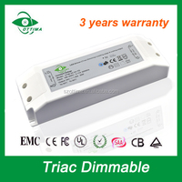 made in China triac dimming constant voltage 24v dc input led driver 30w