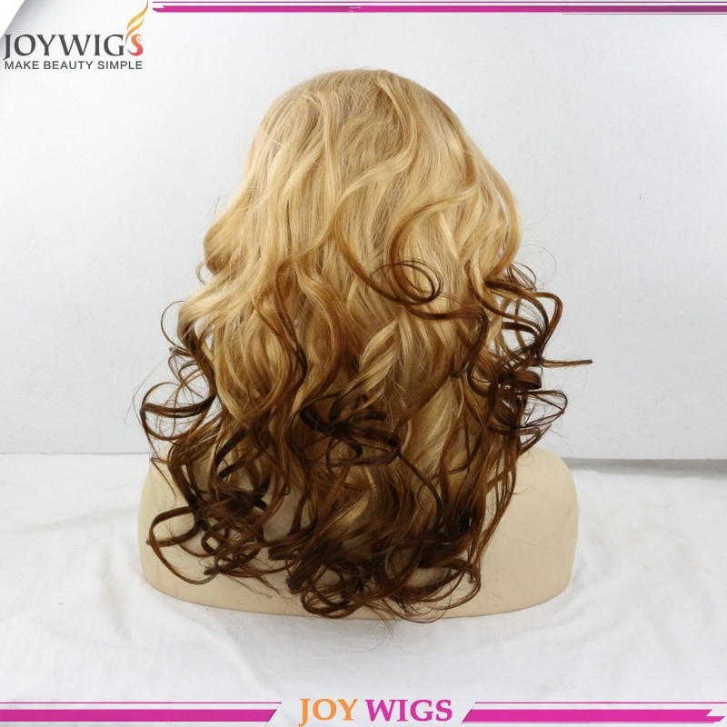 2016 new arrival 100% human hair ombre wig full lace wigs
