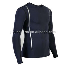 New Design Crossfit nylon/spandex black skin rash guard