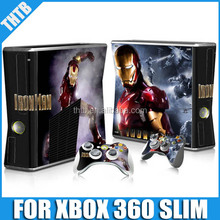 console accessories for Xbox360 slim vinyl skin sticker decal cover