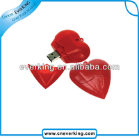 wholesale promotional gift heart shaped usb drive