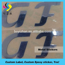 Custom electroform nickel sticker / super thin metal logo