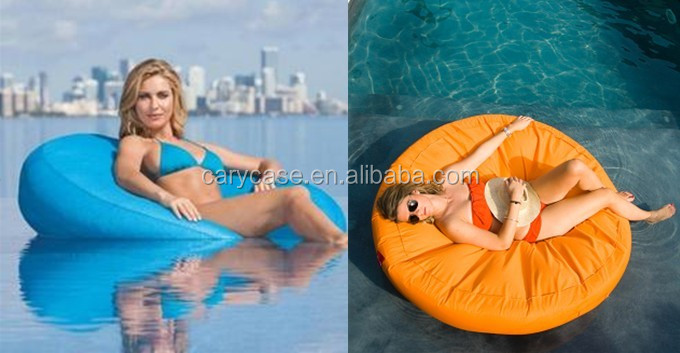 Island cool transformable floating swim beds outdoor floating bean bags