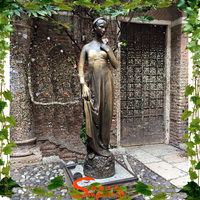 Woman artificial statue traveling for garden or visiting place