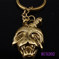 New Fashion Personality Knife inserted eyes human Skeleton shaped metal keychains
