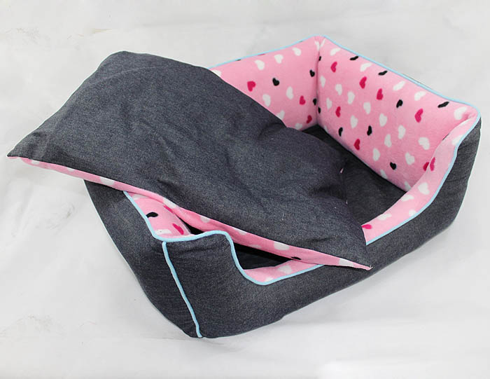 Dog Products Pet small Dog navy blue Denim Pets Bed