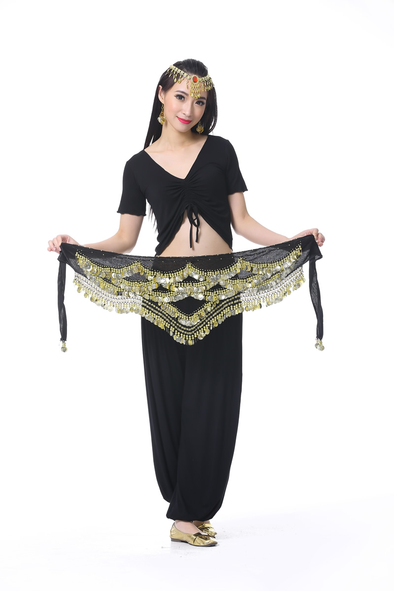 Belly Dance Gold Coins Belt More Colors