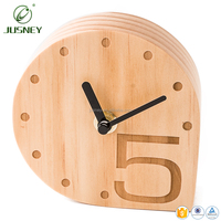 New style real oak wood carving bamboo wooden timer table clock home decor engrave design logo wall clock wood
