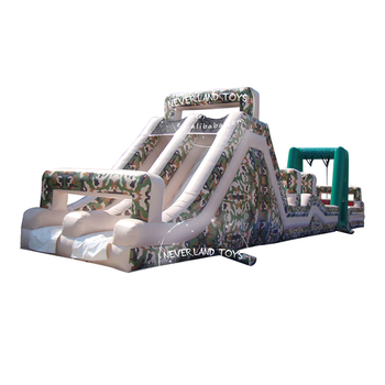 NEVERLAND TOYS Inflatable Camouflage Obstacle Inflatable Sports New Design Hot Sale