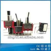 UL DPST toggle switches with rating:2A/250V 5A/125V