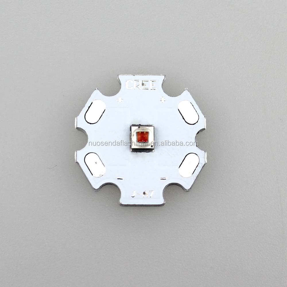 1xCREE XP-E2 P3 585nm-595nm Amber Light LED Emitter with 20mm Heating Star