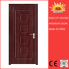Elegent solid wooden sliding barn MDF door SC-P083