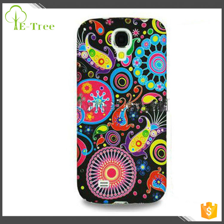 Fancy Design Flower Floral Stylish Printing TPU Case Phone Cover For Samsung Galaxy S4 i9500 S4 mini i9190