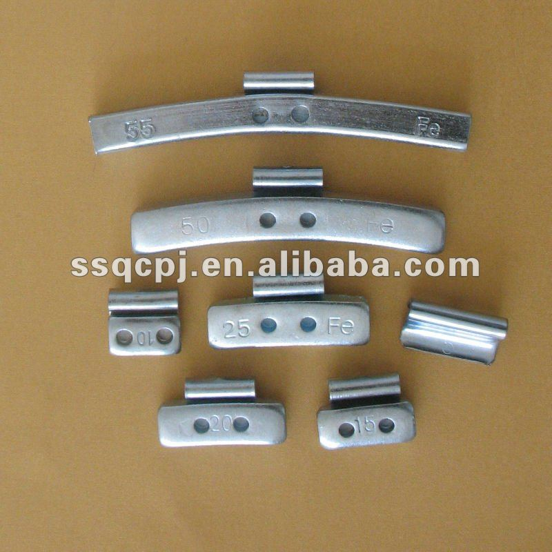 steel material wheel weight/Clip on zn plated rim weights
