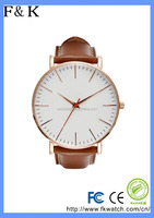 Fashion High Quality Stainless Steel Custom Brand Leather watch 3ATM waterproof