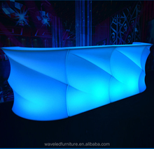 Illuminated Corner and Sectional Counter Led Bar Counter Western Style Design
