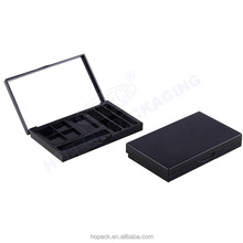 Rectangle cosmetic palette with clear cover lid for make-up powder