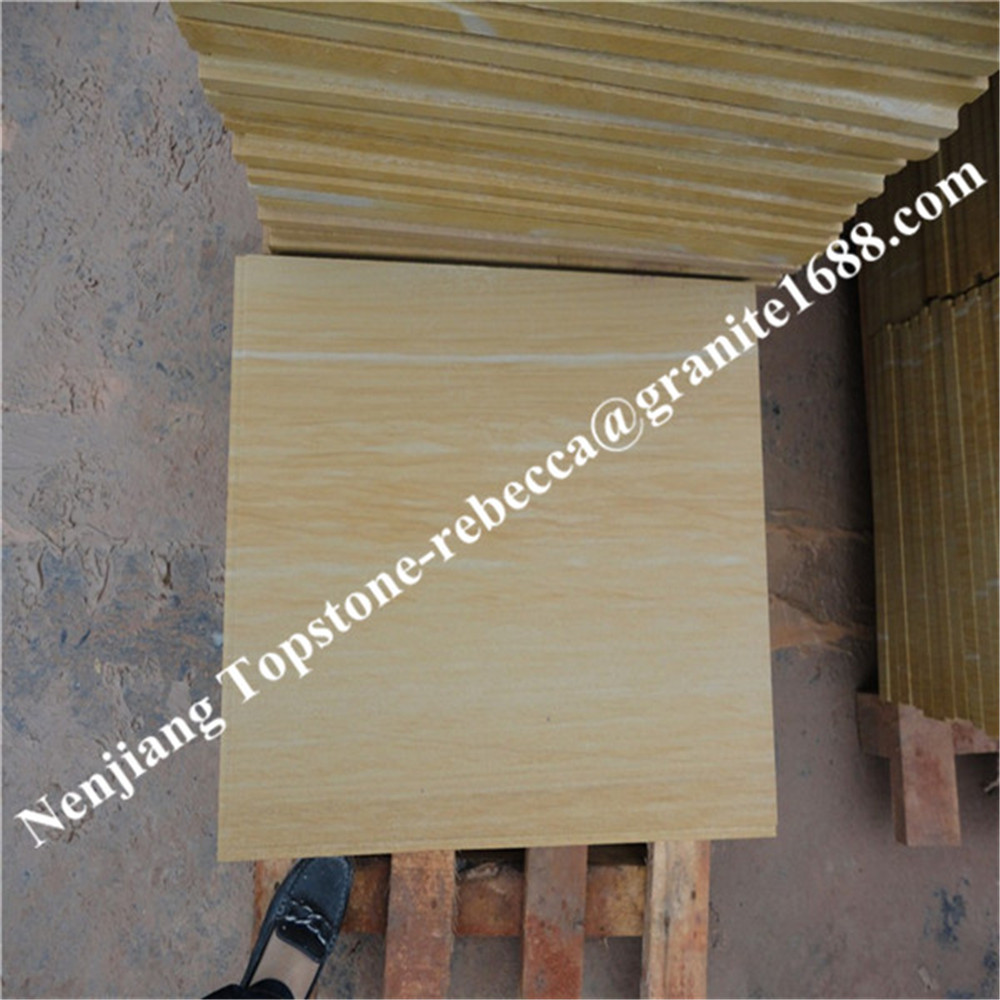 High Quality Yellow Wooden sandstone carving