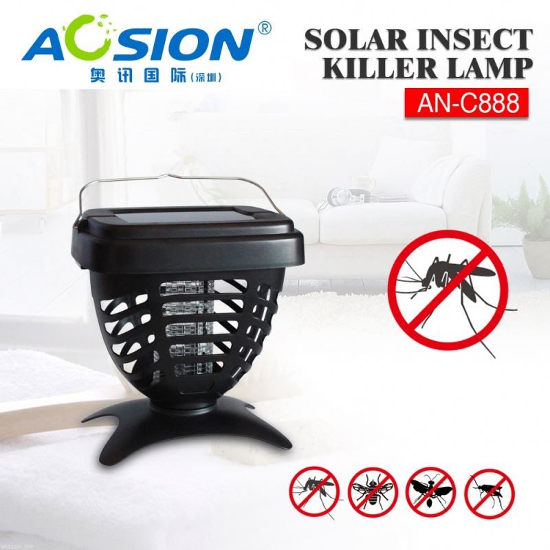 Aosion Free Sample Available Solar Power bug zapper kill flies for bug mosqutio fly insect