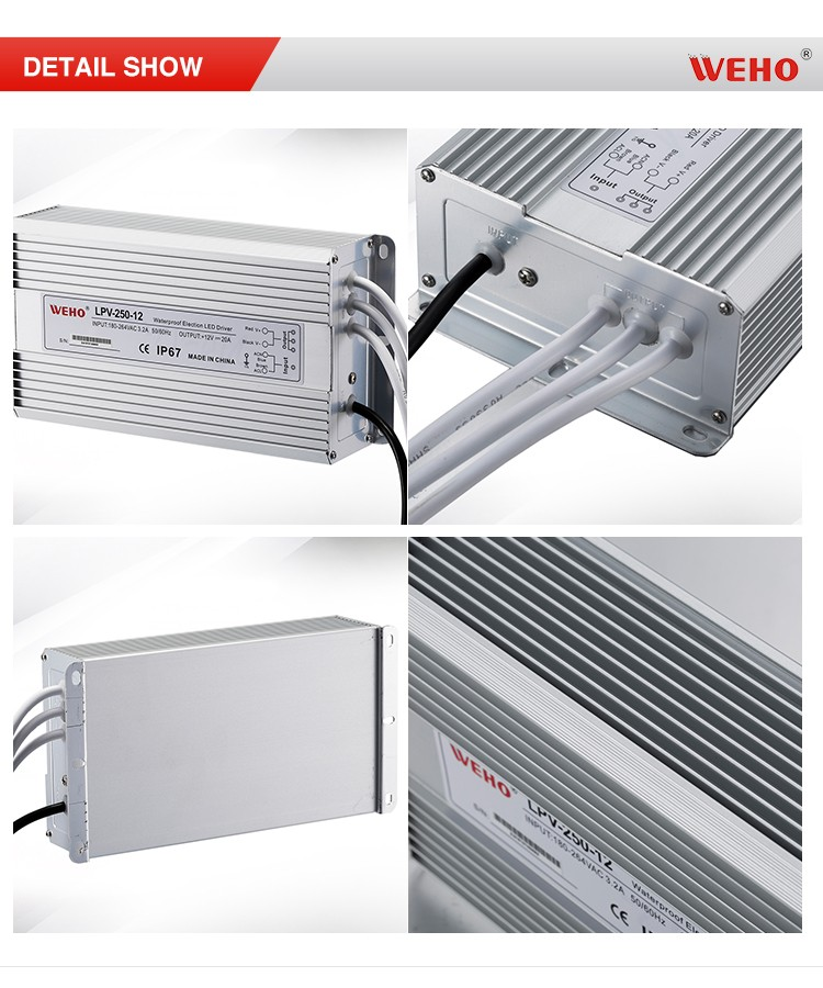 waterproof 20a led driver 250w 24v smps switching power supply