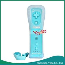 Wholesale! 2 in 1 Blue Remote Controller Built- in Motion Plus For Wii