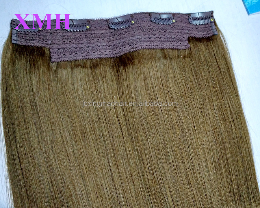 Popular Best Selling Fast Shipping human No Shedding Customized quad weft ombre color clip hair extensions dubai