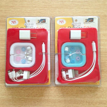 Colorful Stereo Plastic In-ear Earphone with data line for MP3 Player and phone