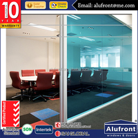 aluminium Office Partitioning System Glass acoustic movable glass walls partitions for office
