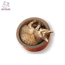 Own Design With Patents Corrugated Cardboard Furniture Scratching Bed Luxury Cat Bed