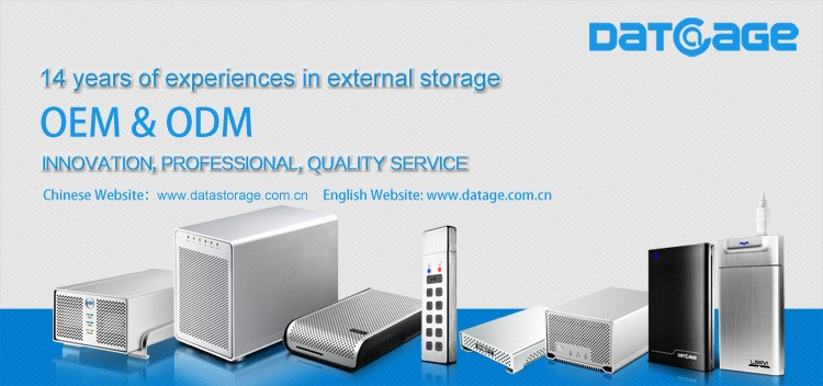 Datage H280 Super Cooling USB3.0 External HDD Enclosure Up To 8TB