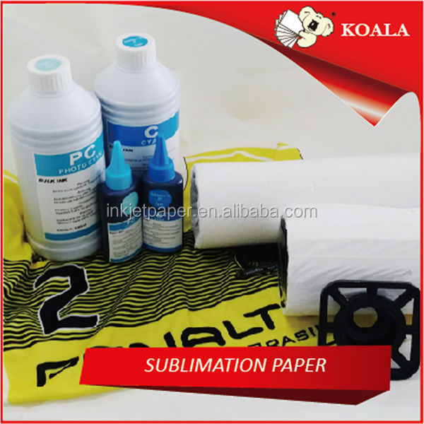Fast dry & flat printing custom made sublimation transfer paper 100gsm