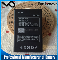 China mobile phone battery manufacturer for Lenovo BL214 A360E Mobile Phone Battery