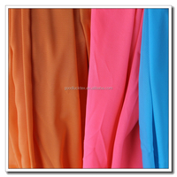 Made in China high stretch dyed chiffon 100% polyester fabric