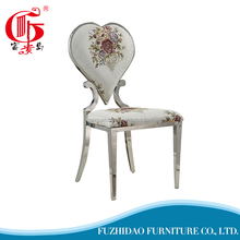 Sliver printing flower living room chair wholesale for dining