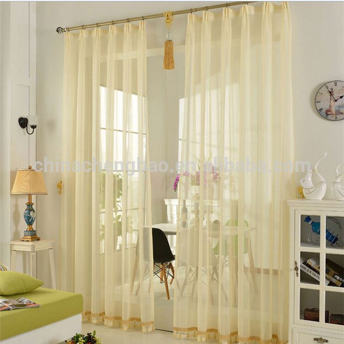 top quality fabric lace sheer curtain for living room