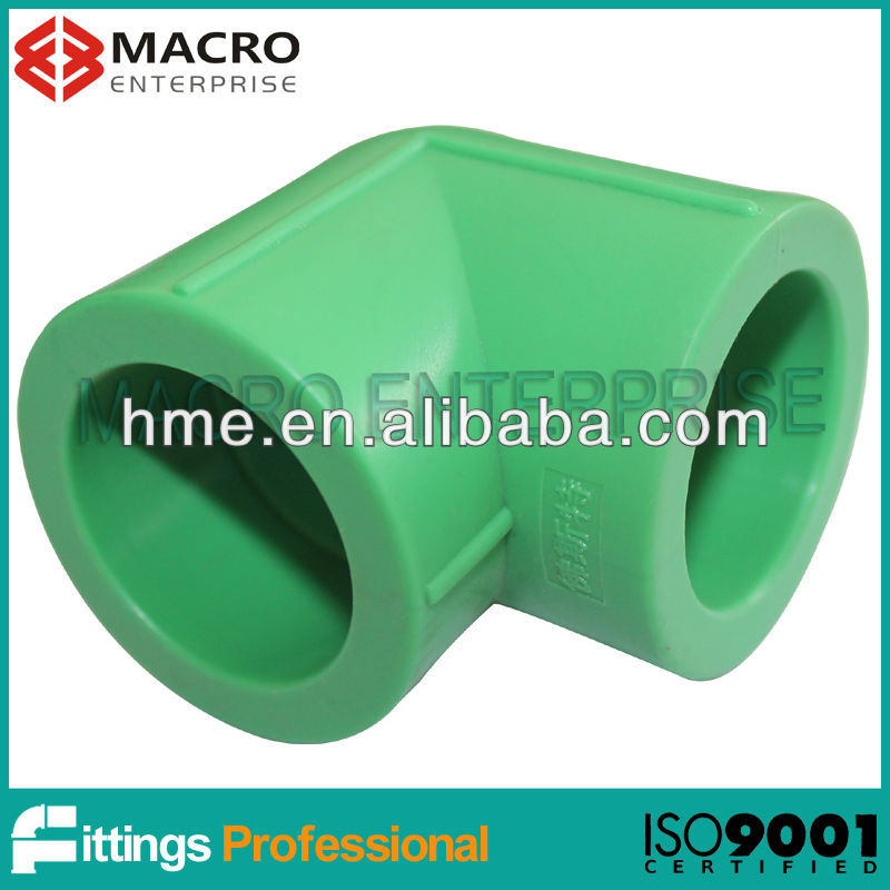 Macro Green PP-R fittings to Mexico market PPR elbow