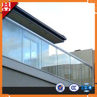 high quality safty Tempered Glass Deck Railing