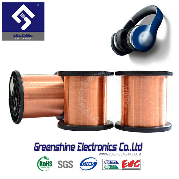 Enameled Copper clad Aluminum ( CCAW ) Wire for voice coil