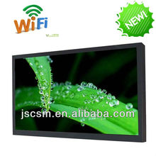 cheap 22 inch advertising player hd lcd with HD good resolution metal material multifunction PPT support made in china