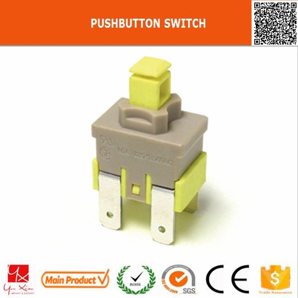 machine on off with light waterproof 6 pins push button micro switch