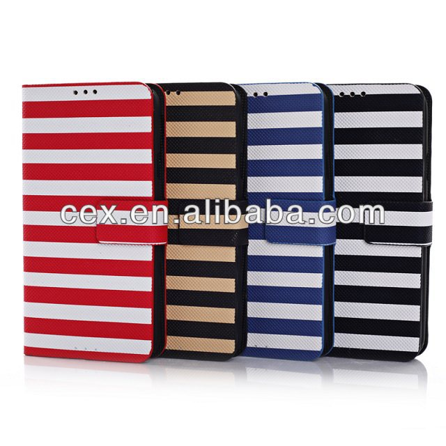 New Arrival Tougs Zebra Stripes PU Leather Book Flip ID Card Case Folio Cover For Samsung Galaxy S5 i9600