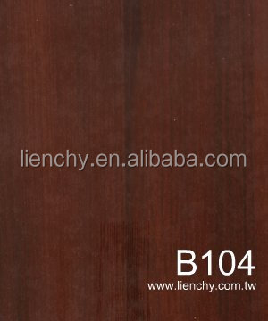 Lienchy Red Cherrywood PVC Vinyl Coating Metal VCM Laminated Steel Plate